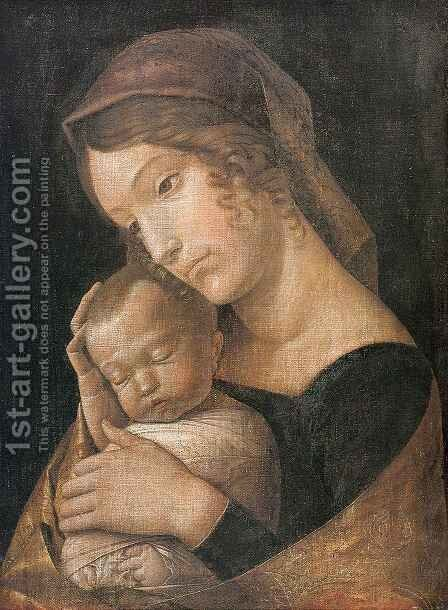 Virgin and Child 2 by Andrea Mantegna - Reproduction Oil Painting