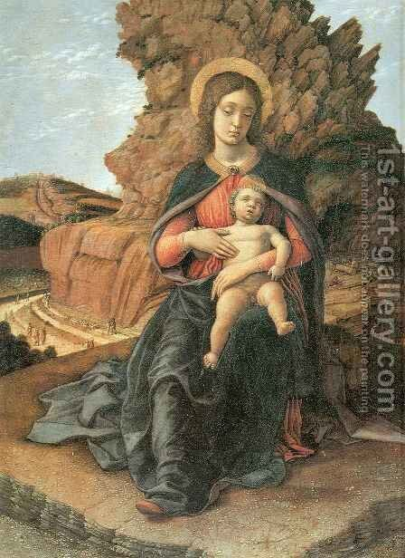 Madonna of the Stonecutters by Andrea Mantegna - Reproduction Oil Painting