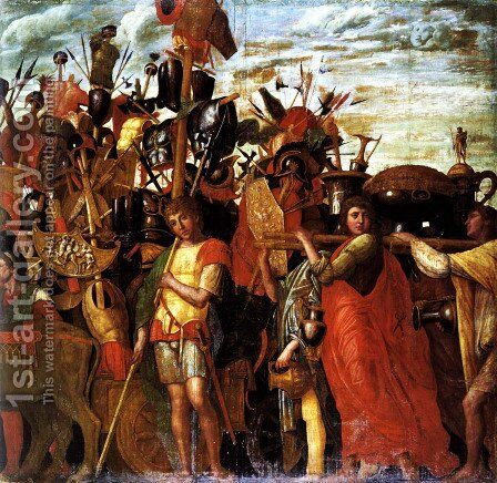 Triumphs of Caesar by Andrea Mantegna - Reproduction Oil Painting