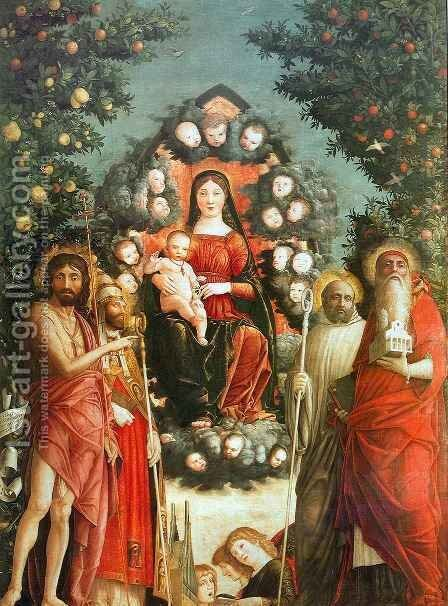 Trivulzio Madonna by Andrea Mantegna - Reproduction Oil Painting