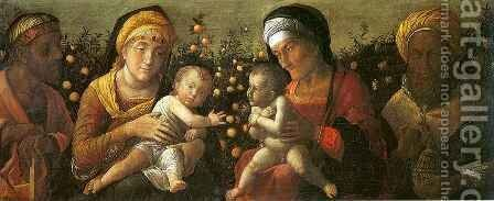Holy Family and the Family of Saint John the Baptist by Andrea Mantegna - Reproduction Oil Painting