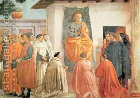 Brancacci chapel Resurrection of the son of Theophilus by Masaccio (Tommaso di Giovanni) - Reproduction Oil Painting