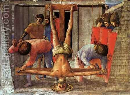 Martyr of St Peter by Masaccio (Tommaso di Giovanni) - Reproduction Oil Painting