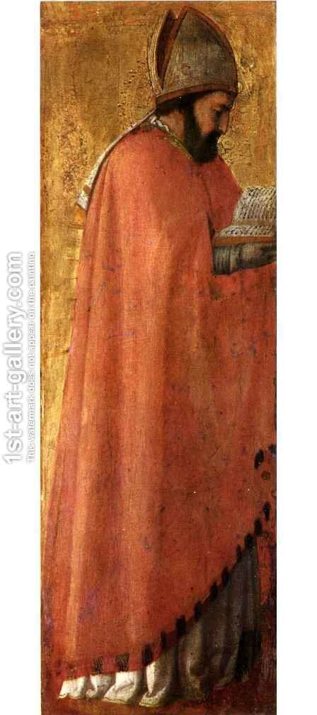 Pisa polyptych St Augustine by Masaccio (Tommaso di Giovanni) - Reproduction Oil Painting