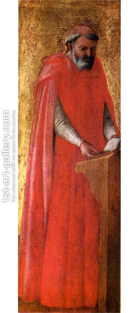 Pisa polyptych St Jerome by Masaccio (Tommaso di Giovanni) - Reproduction Oil Painting
