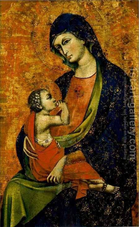 Madonna and Child by Menegello di Giovanni de Canali - Reproduction Oil Painting