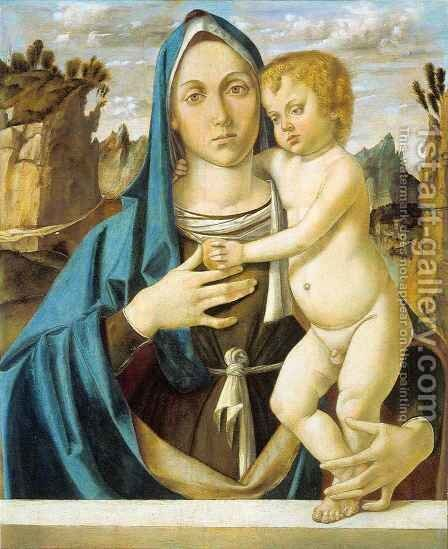 Madonna and Child 3 by Bartolomeo Montagna - Reproduction Oil Painting