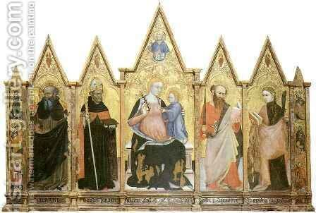Polyptych of Pietralunga by Ottaviano Nelli - Reproduction Oil Painting