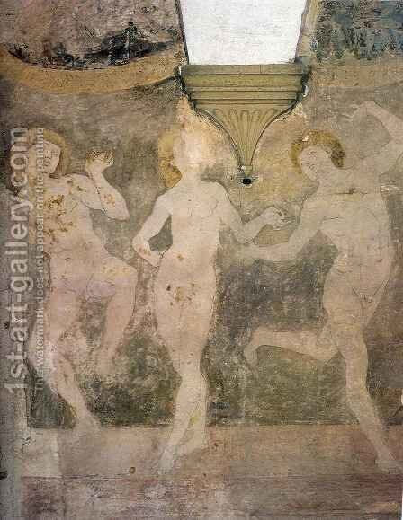 Nude Dancers by Antonio Del Pollaiuolo - Reproduction Oil Painting