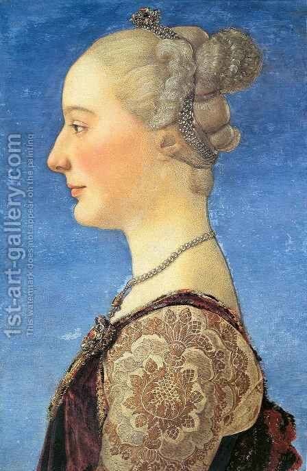 Portrait of a Woman by Antonio Del Pollaiuolo - Reproduction Oil Painting