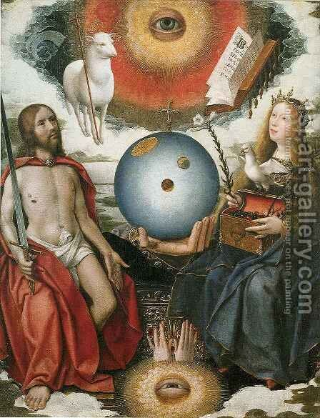Christian Allegory by Jan Provoost - Reproduction Oil Painting