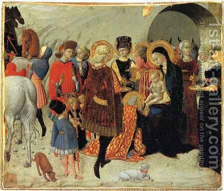 Adoration of the Magi by Stefano Di Giovanni Sassetta - Reproduction Oil Painting