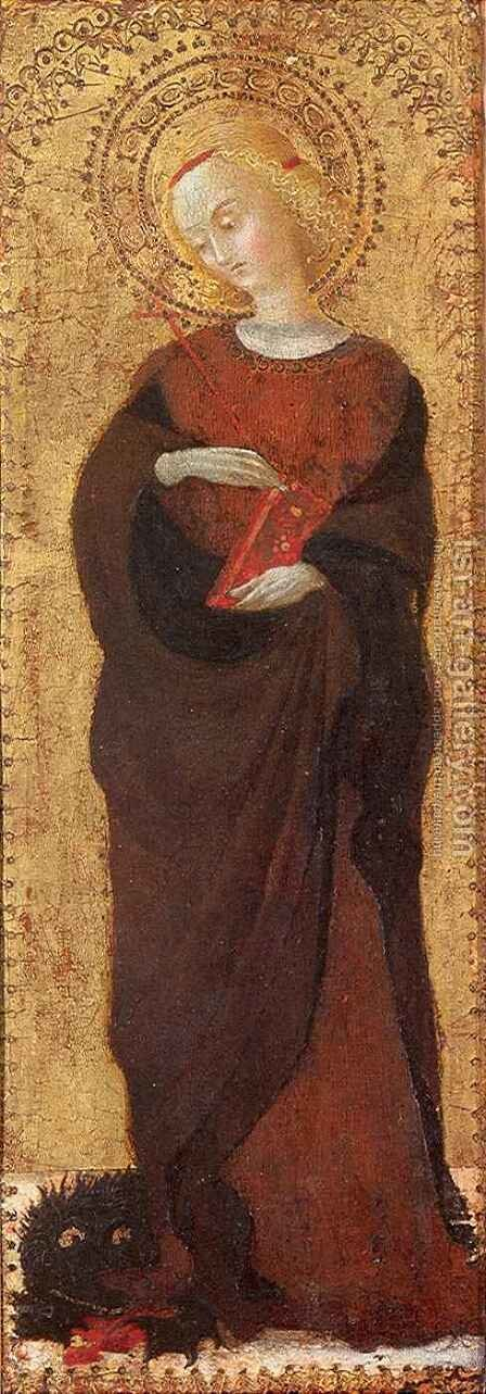 Saint Margaret by Stefano Di Giovanni Sassetta - Reproduction Oil Painting