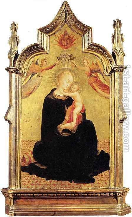 Madonna and Child with Angels by Stefano Di Giovanni Sassetta - Reproduction Oil Painting