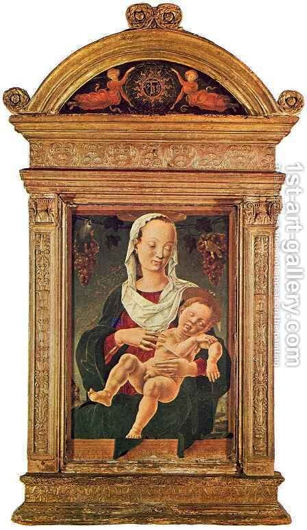 Madonna with the Sleeping Child by Cosme Tura - Reproduction Oil Painting