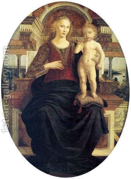Madonna with Child by Andrea Del Verrocchio - Reproduction Oil Painting