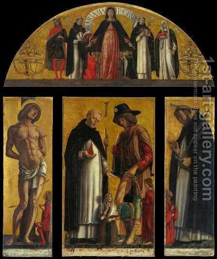 Polyptych 2 by Andrea Da Murano - Reproduction Oil Painting