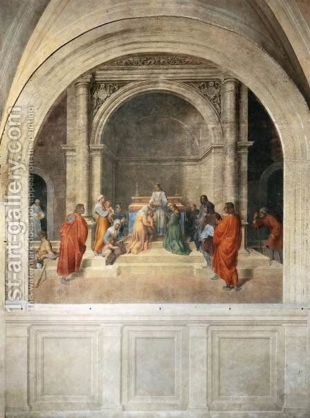 Miraculous Cure by Relics of Filippo Benizzi by Andrea Del Sarto - Reproduction Oil Painting
