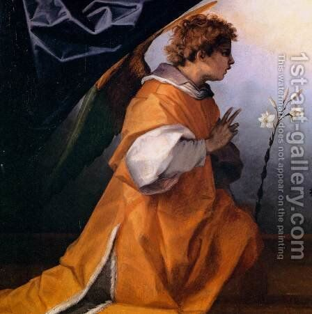 Annunciation (detail) by Andrea Del Sarto - Reproduction Oil Painting