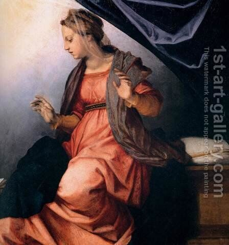 Annunciation (detail) 2 by Andrea Del Sarto - Reproduction Oil Painting