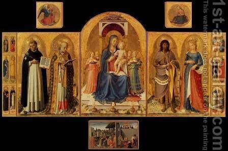 Perugia Altarpiece 2 by Angelico Fra - Reproduction Oil Painting
