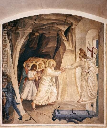 Christ in Limbo (Cell 31) by Angelico Fra - Reproduction Oil Painting