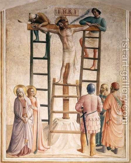 Nailing of Christ to the Cross (Cell 36) by Angelico Fra - Reproduction Oil Painting