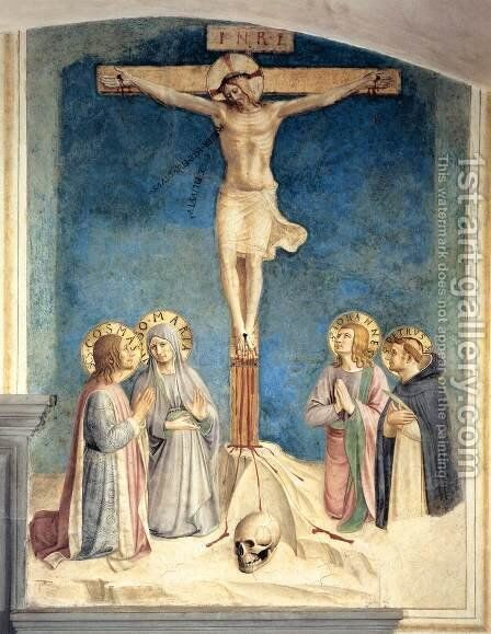 Crucifixion with the Virgin and Sts Cosmas, John the Evangelist and Peter Martyr by Angelico Fra - Reproduction Oil Painting