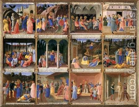 Scenes from the Life of Christ 2 by Angelico Fra - Reproduction Oil Painting