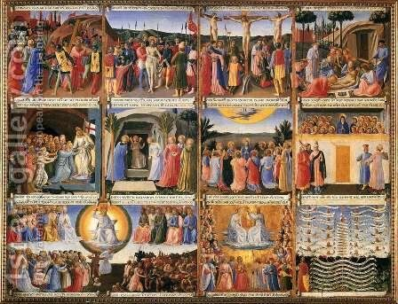 Scenes from the Life of Christ 3 by Angelico Fra - Reproduction Oil Painting