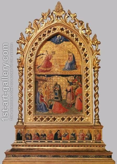 Annunciation and Adoration of the Magi by Angelico Fra - Reproduction Oil Painting
