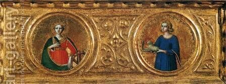 Predella of the St Peter Martyr Altarpiece (detail) 2 by Angelico Fra - Reproduction Oil Painting