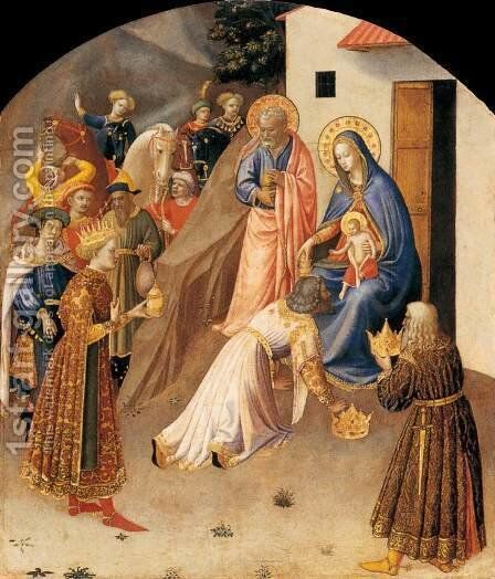 Adoration of the Magi by Angelico Fra - Reproduction Oil Painting
