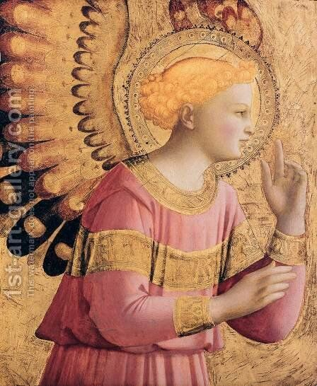 Archangel Gabriel Annunciate by Angelico Fra - Reproduction Oil Painting