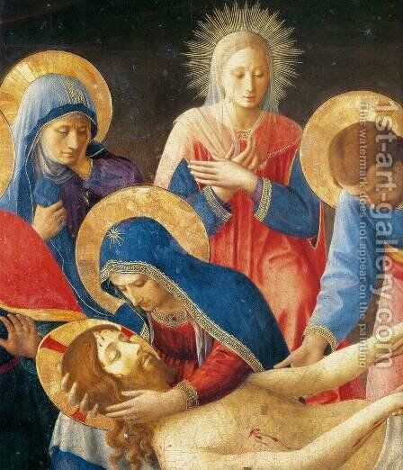 Lamentation over Christ (detail) by Angelico Fra - Reproduction Oil Painting