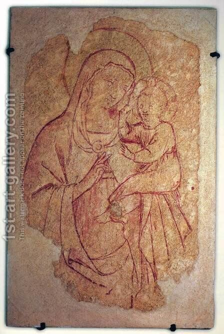 Virgin and Child 2 by Angelico Fra - Reproduction Oil Painting