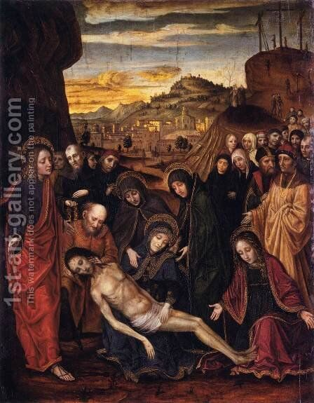 Lamentation of Christ by Ambrogio Bergognone - Reproduction Oil Painting
