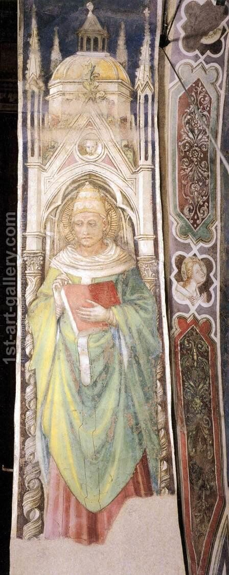 St Gregory the Great by Bicci Di Lorenzo - Reproduction Oil Painting