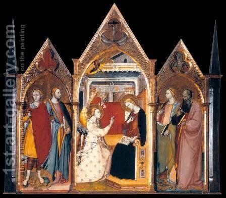 Stia Triptych by Bicci Di Lorenzo - Reproduction Oil Painting