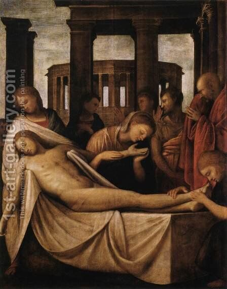 Lamentation of Christ by (Bartolomeo Suardi) Bramantino - Reproduction Oil Painting
