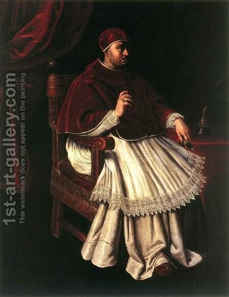 Portrait of Leo X by Domenico Casini And Valore Casini - Reproduction Oil Painting