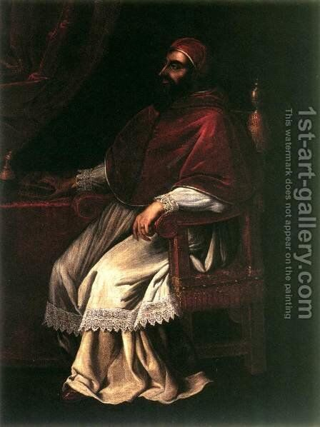 Portrait of Clement VII by Domenico Casini And Valore Casini - Reproduction Oil Painting