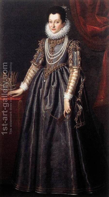 Portrait of Christine of Lorraine by Domenico Casini And Valore Casini - Reproduction Oil Painting