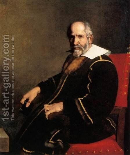 Portrait of an Old Gentleman by Carlo Ceresa - Reproduction Oil Painting