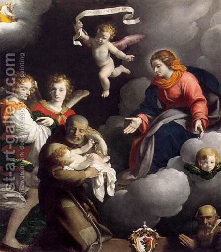 The Vision of St Felix of Cantalice by Carlo Ceresa - Reproduction Oil Painting