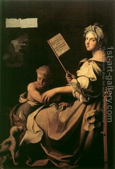 Allegory of Human Fragility by Giovanni Domenico Cerrini - Reproduction Oil Painting