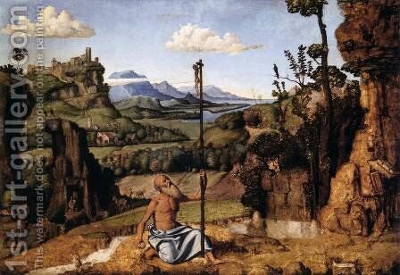 The Penitent St Jerome in the Wilderness by Giovanni Battista Cima da Conegliano - Reproduction Oil Painting
