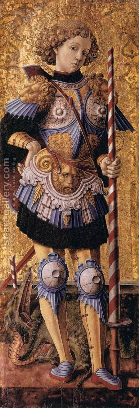 St George by Carlo Crivelli - Reproduction Oil Painting