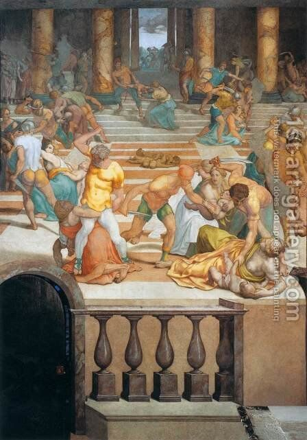 Massacre of the Innocents by Daniele da Volterra - Reproduction Oil Painting