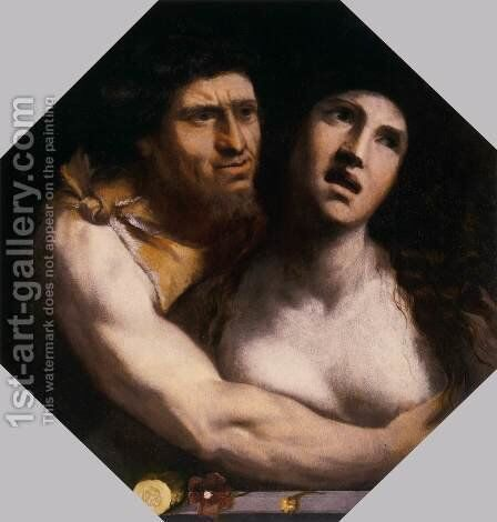 The Embrace by Dosso Dossi (Giovanni di Niccolo Luteri) - Reproduction Oil Painting
